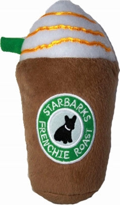 Starbarks Frenchie Roast Plush Squeaker Toy