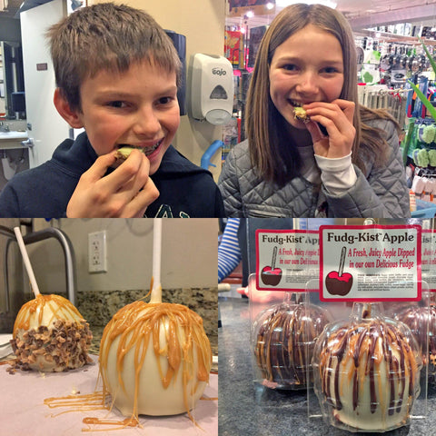 Fudge Dipped Apples - Culinary Apple