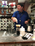 Paul with the OXO Pour Over Coffee demo