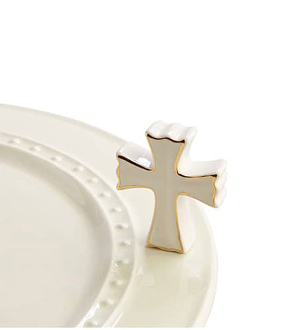 Nora Fleming Mini White Cross at Culinary Apple