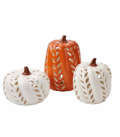 Ceramic Pumpkin Lanterns
