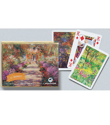 Piatnik Bridge Playing Cards -  Monet Giverny