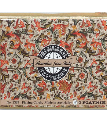 Piatnik Bridge Playing Cards - Florentine