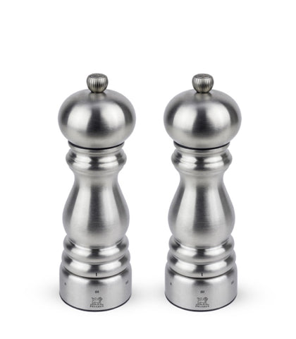 Peugeot Stainless Paris Salt & Pepper Mills at Culinary Apple