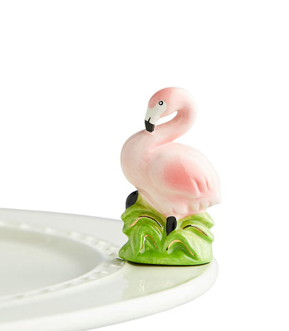 Nora Fleming Pink Flamingo Mini