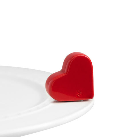 Nora Fleming Mini: Red Heart at Culinary Apple