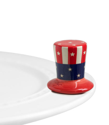 Nora Fleming Mini: Uncle Sam's Hat