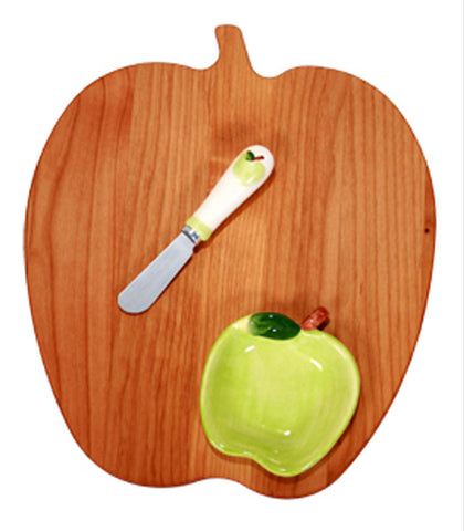Apple Shaped Wooden Serving Board