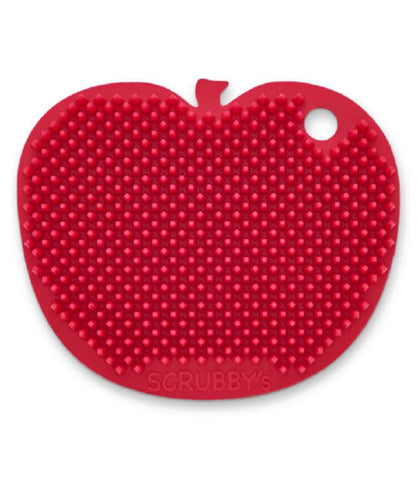 Apple Shaped Silicone Scrubby