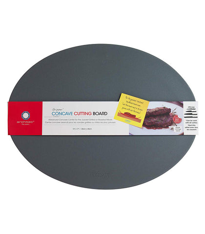 Gray Concave Cutting Board at Culinary Apple