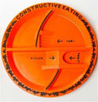 Constructive Eating Plate for kids