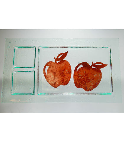 Copper Apple Glass Tray