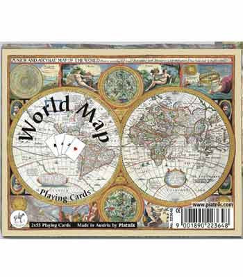 Piatnik Bridge Playing Cards -  World Map