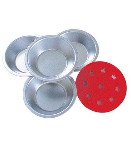 Mini Pie Pan Set with Apple Pie Top Cutter
