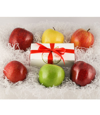 Washington Apple Variety Gift Basket with Fudge