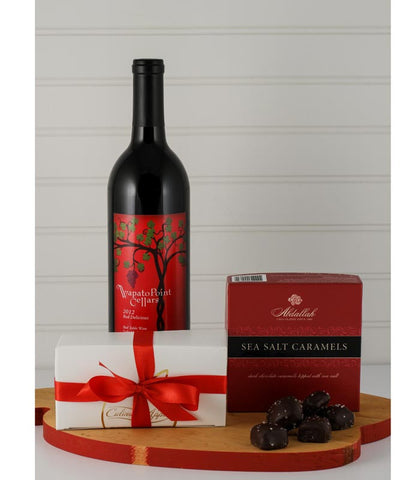 Red Wine & Chocolate Gift Box - Available for carry out or local delivery