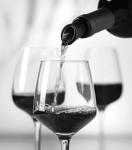 Pouring through Wine Aerator - Wine Finer