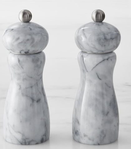 Trudeau Marble Salt and Pepper Shakers at Culinary Apple