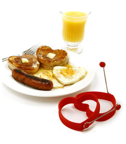 Silicone Heart Shaped Egg Rings
