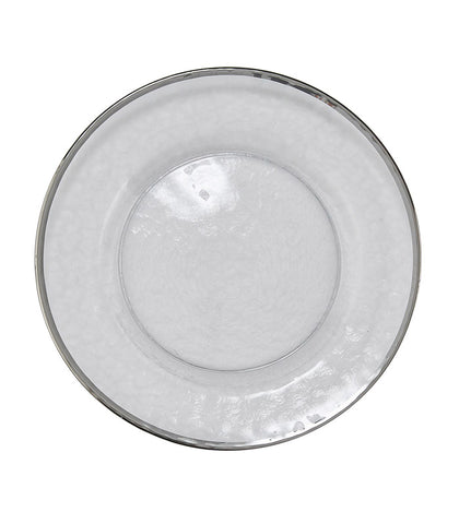 Glass Dinnerware - Silver Trim