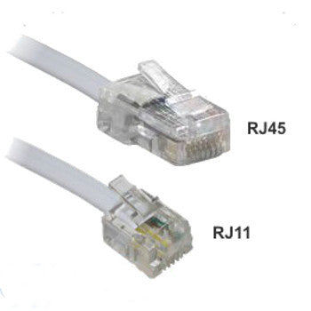 ADSL Modem Cable RJ11 to CAT5e 2M - Simply Cables