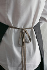 Elegant and sturdy kitchen apron made in the U.S.A. of sustainable materials.