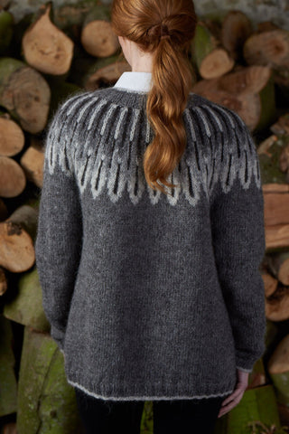 Owl Feathers cardigan by Rosee Woodland