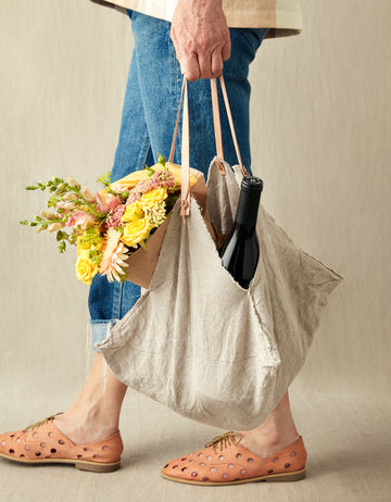 Rustic Linen Four Corner Bag (Medium)