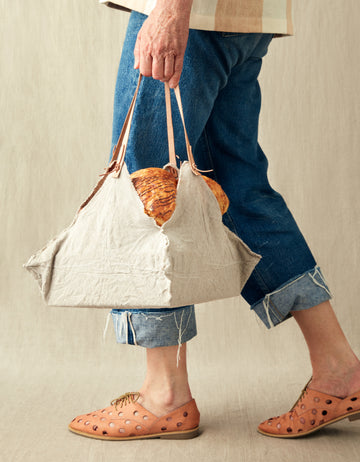 Rustic Linen Four Corner Bag (Small)