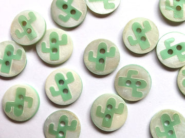 Shell Cactus  Button Size 14mm - TGB2930