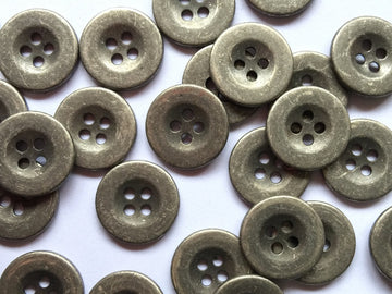 Zinc Colour Metal Button Size 15mm - TGB2668