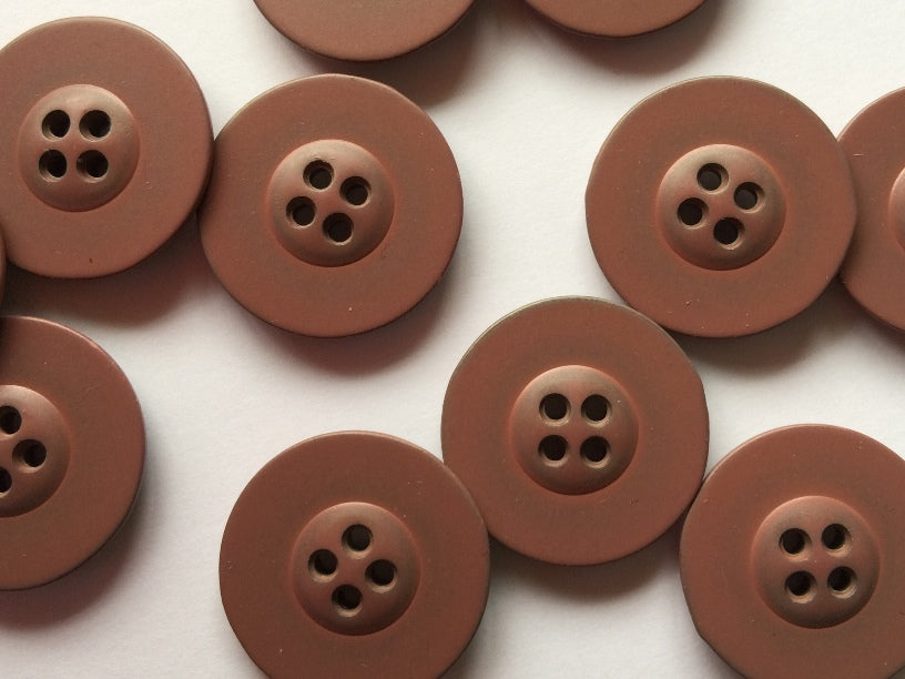 Dirty Pink Coated Metal Button Size 22mm - TGB3882