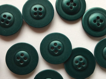 Blue Green Coated Metal Button Size 15mm - TGB3885