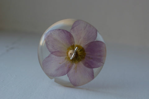 Clematis Resin Drop Spindle