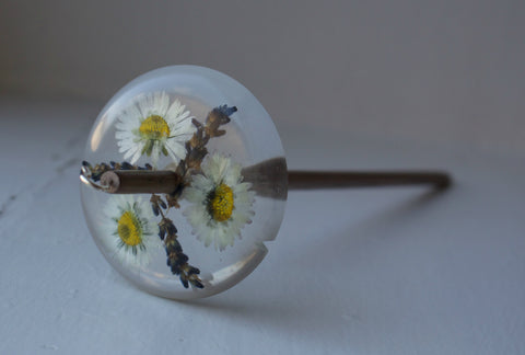 Daisy & Lavender Resin Drop Spindle