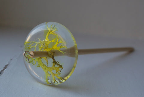 Lichen Resin Drop Spindle