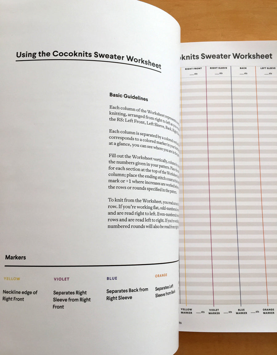Sweater Worksheet Journal