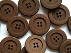 Simple 80% cotton buttons brown x 25mm - TGB4007
