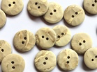 Matt Dark Cream Beige Stone Marble Effect Buttons x 18mm - TGB4176