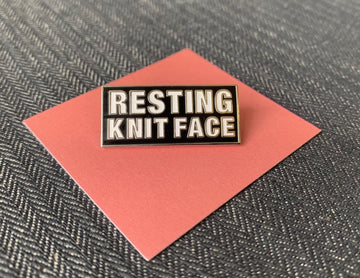 Resting Knit Face Enamel Pin