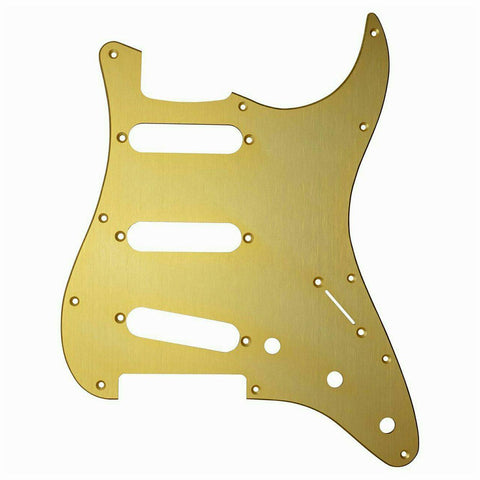 Fender '57 Strat Pickguard , S/S/S - Gold Anodized