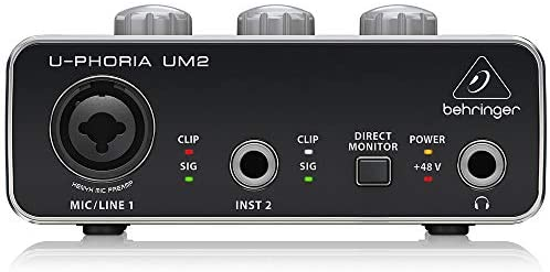 Behringer U-Phoria UM2 Interface de Audio USB