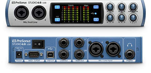 Presonus Studio 68 6X6 USB 2.0 192KHZ Audio Interface