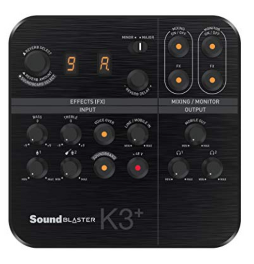 Interface de Audio y Mezcladora Creative Sound Blaster K3+
