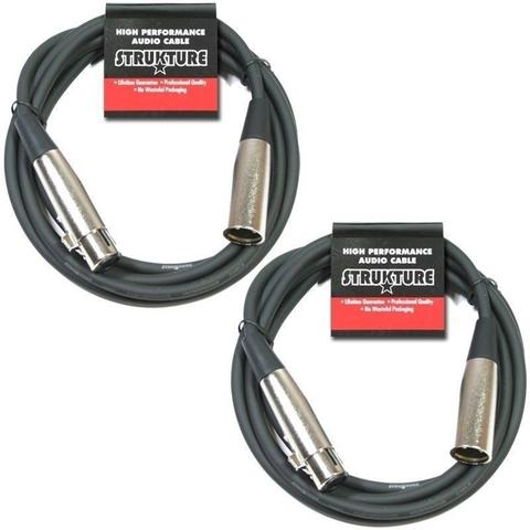 Strukture Cable de Microfono 1.8 metros 6ft XLR mic cable,  rubber