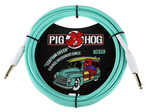 PIG HOG 10ft Vintage Series Cable para instrumento Seafoam Green