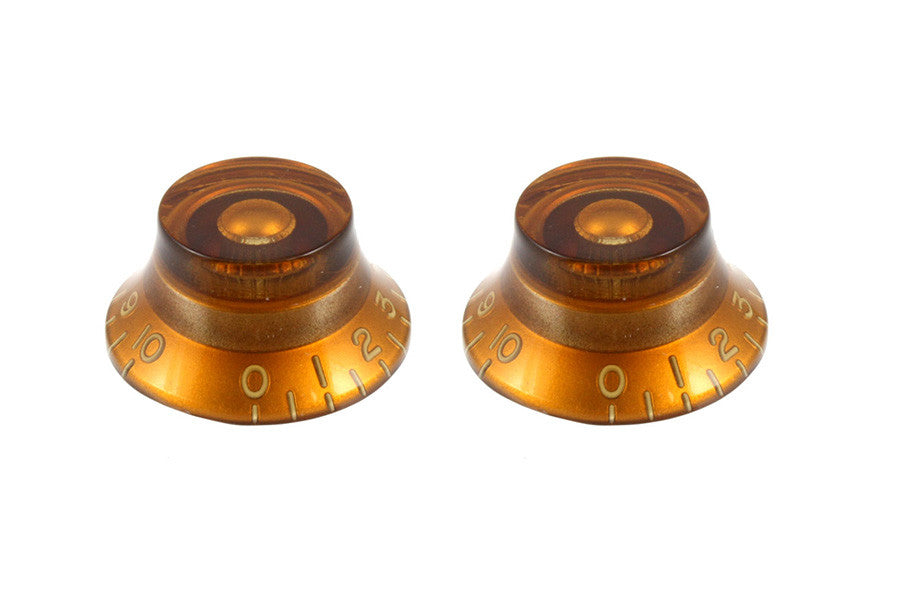 Vintage Style Amber Bell Knobs