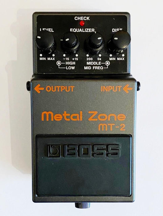 Pedal de Distorsión Boss MT-2 Metal Zone (USADO)