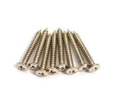 Pack of 8 Nickel Humbucking Ring Screws