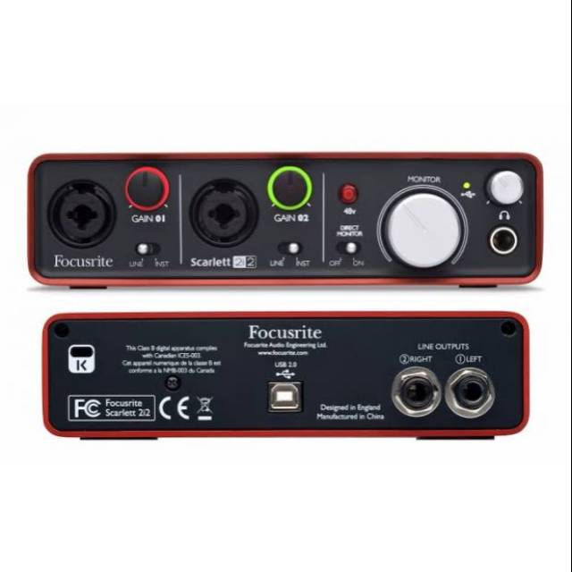 Focusrite Scarlett 2i2 3rd Gen USB Audio Interface